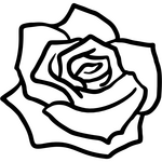 Appliqué en flex thermocollant Rose modèle A