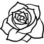 Appliqué en flex thermocollant Rose modèle B