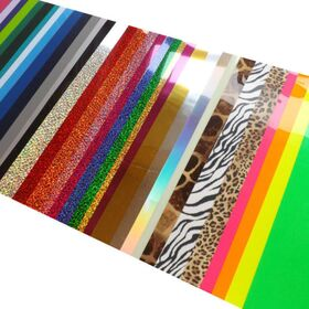 Feuille de Flex PU 25X20 cm, vinyle thermocollant textile caméo Presse à chaud