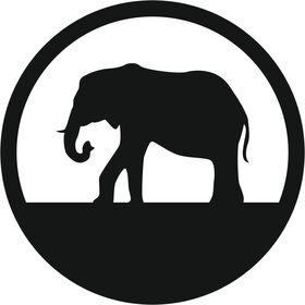 Appliqué en flex thermocollant Elephant dans cercle