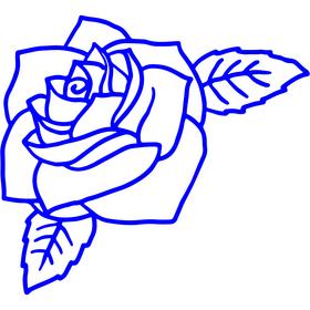 Appliqué en flex thermocollant Rose modèle C
