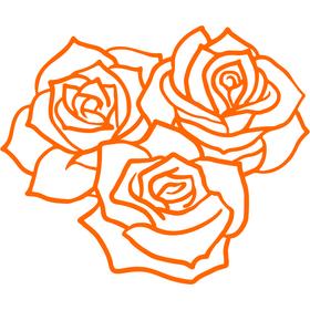 Appliqué en flex thermocollant Rose modèle D